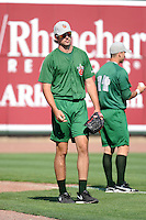 Fort Wayne TinCaps pitchr Walker Weickel (33) during practice before a game against the Great Lakes Loons on August 19, 2013 at Dow Diamond in Midland, Michigan.  Great Lakes defeated Fort Wayne 12-5.  (Mike Janes/Four Seam Images)