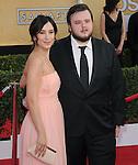 Sibel Kekilli and John Bradley attends The 20th SAG Awards held at The Shrine Auditorium in Los Angeles, California on January 18,2014                                                                               © 2014 Hollywood Press Agency