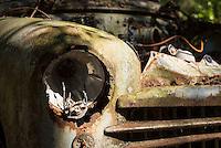 Zerfallende Oldtimer auf dem Autofriedhof Kyrkoe Mosse. Der Autiofriedhof ist ein beliebtes Ausflugsziel und wird von den Besuchern sehr pfleglich behandelt. Trotz Erwaehnungen in diversen Reisefuehren liegt dort weder Muell, oder ist Graffiti auf den alten Autos zu finden.<br /> 3.7.2015, Kyrkoe Mosse/Schweden<br /> Copyright: Christian-Ditsch.de<br /> [Inhaltsveraendernde Manipulation des Fotos nur nach ausdruecklicher Genehmigung des Fotografen. Vereinbarungen ueber Abtretung von Persoenlichkeitsrechten/Model Release der abgebildeten Person/Personen liegen nicht vor. NO MODEL RELEASE! Nur fuer Redaktionelle Zwecke. Don't publish without copyright Christian-Ditsch.de, Veroeffentlichung nur mit Fotografennennung, sowie gegen Honorar, MwSt. und Beleg. Konto: I N G - D i B a, IBAN DE58500105175400192269, BIC INGDDEFFXXX, Kontakt: post@christian-ditsch.de<br /> Bei der Bearbeitung der Dateiinformationen darf die Urheberkennzeichnung in den EXIF- und  IPTC-Daten nicht entfernt werden, diese sind in digitalen Medien nach §95c UrhG rechtlich geschuetzt. Der Urhebervermerk wird gemaess §13 UrhG verlangt.]