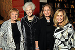 """From left: Rose Rosenthal, Edith Mincberg, Pepi Joskowitz Nichols and Sandy Lessig at the opening reception: """"The Wartime Escape:  Margret and H.A. Rey's Journey from France"""" at the Holocaust Museum Houston Thursday Nov. 07,2013.  (Dave Rossman photo)"""