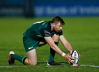 2nd January 2021; RDS Arena, Dublin, Leinster, Ireland; Guinness Pro 14 Rugby, Leinster versus Connacht; Jack Carty of Connacht get ready to take a penalty kick