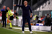 Maurizio Sarri coach of Juventus reacts during the Serie A football match between Juventus FC and UC Sampdoria at Juventus stadium in Turin (Italy), July 26th, 2020. Play resumes behind closed doors following the outbreak of the coronavirus disease. <br /> Photo Federico Tardito / Insidefoto