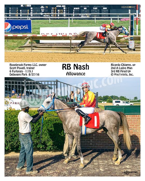 RB Nash winning at Delaware Park on 8/27/16