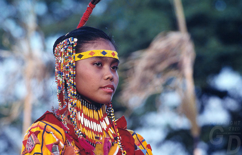 Beautiful Tiboli Girl in traditional clothing, Philippines