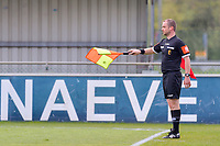 assistant referee Toon Bonduel pictured during a female soccer game between AA Gent Ladies and Oud Heverlee Leuven on the fourth matchday of play off 1 in the 2020 - 2021 season of Belgian Scooore Womens Super League , saturday 1 st of May 2021  in Oostakker , Belgium . PHOTO SPORTPIX.BE | SPP | STIJN AUDOOREN