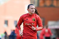 Hannah Eurlings (13) of Belgium pictured during a Womens International Friendly game between Belgium , called the Red Flames and Norway at Koning Boudewijnstadion in Brussels , Belgium. Photo Sportpix.be / SPP