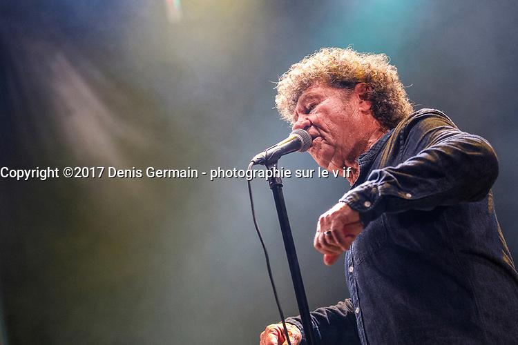 Robert Charlebois au Festin culturel, le 12 aout 2017, Brossard. <br /> <br /> <br /> PHOTO :  Agence Quebec Presse