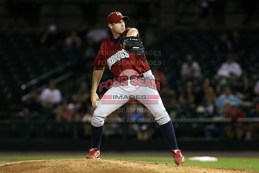 July 1st 2008:  Relief pitcher Gary Knotts of the Lehigh Valley IronPigs, Class-AAA affiliate of the Philadelphia Phillies, during a game at Frontier Field in Rochester, NY.  Photo by:  Mike Janes/Four Seam Images