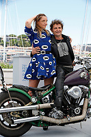 """CANNES, FRANCE - JULY 13: Clotilde Courau and François Creton at the """"Les Heroiques/The Heroics"""" photocall during the 74th annual Cannes Film Festival on July 13, 2021 in Cannes, France. <br /> CAP/GOL<br /> ©GOL/Capital Pictures"""