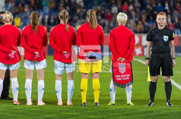 Estoril, Portugal - November 8, 2018:  The USWNT defeated Portugal 1-0 during an international friendly at Estadio Antonio Coimbra da Mota.