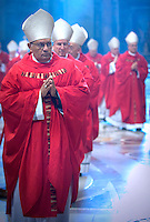 Cardinal Ivan Dias,Pope Benedict XVI during a Mass  for cardinals and bishops deceased over the year, inside St. Peter's  Basilica,  at the Vatican.Nov. 3, 2008.         .
