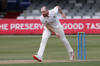 Ben Raine in bowling action for Durham during Essex CCC vs Durham CCC, LV Insurance County Championship Group 1 Cricket at The Cloudfm County Ground on 16th April 2021