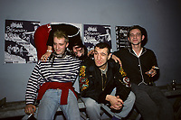 December 1988 File photo, <br /> French Punk - Electro band BERURIERS NOIRS pose after a press conference at Montreal's punk club LES FOUFOUNES ELECTRIQUES<br /> Photo :  Images Distribution