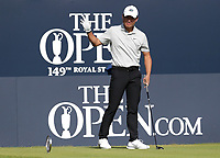 17th July 2021; Royal St Georges Golf Club, Sandwich, Kent, England; The Open Championship Golf, Day Three; amateur player Yuxin Lin (CHN) acknowledges the applause of the fans at the first tee