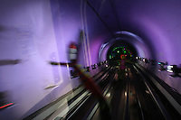 CHINA. Shanghai. In the Bund Sightseeing tunnel that runs underneath the Huangpu River from the Bund to Pudong. 2008.
