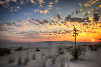 Orange Sky in the Morning - New Mexico - White Sands National Monument