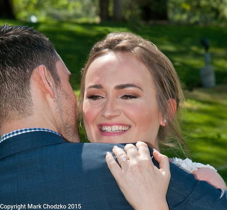 The bride's tears of joy.