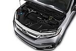 Car Stock 2022 Honda Pilot Touring-2WD 5 Door suv Engine  high angle detail view