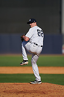 New York Yankees pitcher Brooks Kriske (82) during a Spring Training game against the Toronto Blue Jays on February 22, 2020 at the George M. Steinbrenner Field in Tampa, Florida.  (Mike Janes/Four Seam Images)
