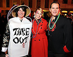 From left: Melody Smith, Roshelle Gaskins and Rodrigo Salinas at the Mardi Gras Ball at the Tremont House in Galveston Saturday Feb. 13,2010.(Dave Rossman Photo)