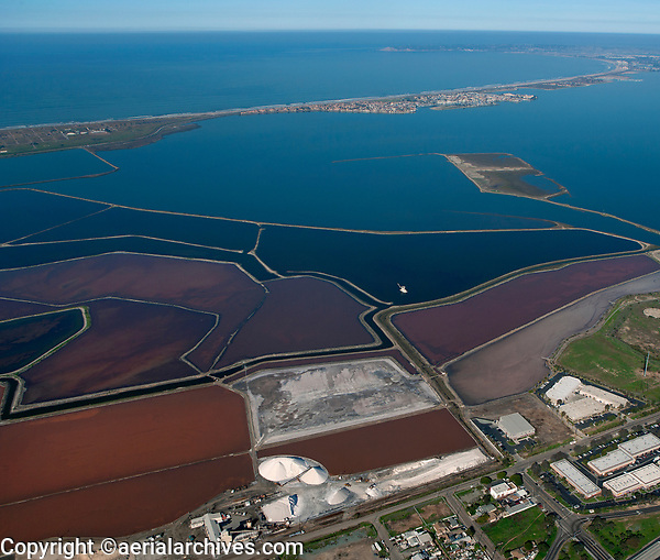 aerial photograph of the South Bay Salt Works near Chula Vista, San Diego Bay, California