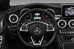 Car pictures of steering wheel view of a 2017 Mercedes Benz C-Class AMG-Line 2 Door convertible Steering Wheel