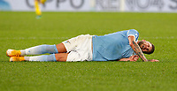 Lazio s Sergej Milinkovic-Savic grimaces in pain on the pitch after being injured during the Serie A soccer match between Lazio and Hellas Verona at Rome's Olympic Stadium, December 12, 2020.<br /> UPDATE IMAGES PRESS/Riccardo De Luca