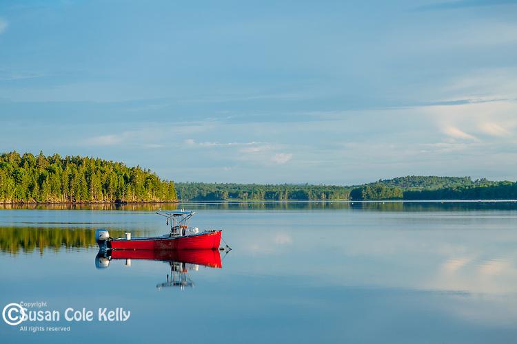 Sunrise on Taunton Bay in Hancock County, Maine, USA