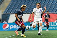 FOXBOROUGH, MA - AUGUST 7: Ryo Shimazaki #31 of New England Revolution II controls the ball during a game between Orlando City B and New England Revolution II at Gillette Stadium on August 7, 2020 in Foxborough, Massachusetts.