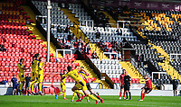 Lincoln City's James Jones takes a free kick<br /> <br /> Photographer Chris Vaughan/CameraSport<br /> <br /> The EFL Sky Bet League One - Saturday 12th September 2020 - Lincoln City v Oxford United - LNER Stadium - Lincoln<br /> <br /> World Copyright © 2020 CameraSport. All rights reserved. 43 Linden Ave. Countesthorpe. Leicester. England. LE8 5PG - Tel: +44 (0) 116 277 4147 - admin@camerasport.com - www.camerasport.com - Lincoln City v Oxford United