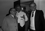 """GAETANO PIERACCINI CON FRANCO ENRIQUEZ E MASSIMO SERATO<br /> PRIMA DEL """"IL GATTOPARDO """" TEATRO BRANCACCIO ROMA 1979"""