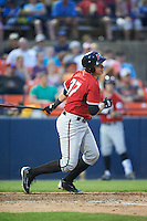 Carolina Mudcats designated hitter Joey Meneses (37) at bat during a game against the Frederick Keys on June 4, 2016 at Nymeo Field at Harry Grove Stadium in Frederick, Maryland.  Frederick defeated Carolina 5-4 in eleven innings.  (Mike Janes/Four Seam Images)