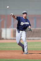 Milwaukee Brewers third baseman Tucker Neuhaus (2) during an Instructional League game against the Seattle Mariners on October 4, 2014 at Peoria Stadium Training Complex in Peoria, Arizona.  (Mike Janes/Four Seam Images)
