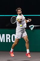 Rotterdam, The Netherlands, 4 march  2021, ABNAMRO World Tennis Tournament, Ahoy, Second round match: Jeremy Chardy (FRA). <br /> Photo: www.tennisimages.com/henkkoster