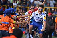TUNJA - COLOMBIA, 11-02-2020: Julian<br /> Alaphilippe (FRA) del equipo DECEUNINCK - QUICK STEP durante la primera del Tour Colombia 2.1 2020 que se correrá en Boyacá, Colombia entre el 11 y 16 de febrero de 2020. / Julian<br /> Alaphilippe (FRA) of team DECEUNINCK - QUICK STEP during the launch of Tour Colombia 2.1 2020 that that will run between February 11 and 16, 2020 in Boyacá, Colombia.  Photo: VizzorImage / Darlin Bejarano / Cont