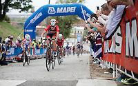 eventual winner Chloe Dygert (USA) up 23rd street<br /> <br /> Junior Women Road Race<br /> UCI Road World Championships Richmond 2015 / USA