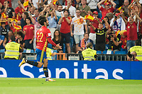Spain's Fernando Alarcon 'Isco' celebrating a goal during match between Spain and Italy to clasification to World Cup 2018 at Santiago Bernabeu Stadium in Madrid, Spain September 02, 2017. (ALTERPHOTOS/Borja B.Hojas)