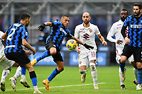 Alexis Sanchez of FC Internazionale scores the goal of 1-2 during the Serie A football match between FC Internazionale and Torino FC at stadio San Siro in Milano (Italy), November 22th, 2020. Photo Image Sport / Insidefoto