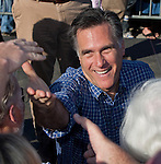 Republican Presidential candidate, former Massachusetts Gov. Mitt Romney campaigns at the Eastern Shipyard on January 28, 2012 in Panama City, Florida.