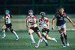 Ano Kuwai (c) competes against Hong Kong during the Womens Rugby World Cup 2017 Qualifier match between Hong Kong and Japan on December 17, 2016 in Hong Kong, Hong Kong. Photo by Marcio Rodrigo Machado / Power Sport Images