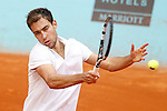 Jerzy Janowicz during Madrid Open Tennis 2015 match.May, 4, 2015.(ALTERPHOTOS/Acero)