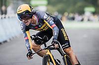 Primoz Roglic (SVN/Jumbo-Visma)<br /> <br /> Stage 5 (ITT): Time Trial from Changé to Laval Espace Mayenne (27.2km)<br /> 108th Tour de France 2021 (2.UWT)<br /> <br /> ©kramon
