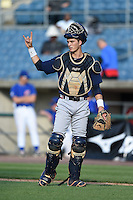 Christopher Cullen (9) of West Forsyth High School in Cumming, Georgia playing for the Atlanta Braves scout team during the East Coast Pro Showcase on July 31, 2014 at NBT Bank Stadium in Syracuse, New York.  (Mike Janes/Four Seam Images)