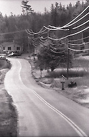 Power lines along country road<br />