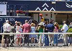 March 27, 2021: Basin #7, ridden by jockey Jose Ortiz, wins the Sir Shackleton Stakes on Florida Derby Day at Gulfstream Park in Hallandale Beach, Florida. Liz Lamont/Eclipse Sportswire/CSM