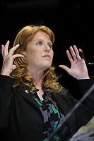 Montreal (Qc) CANADA - April 16 2009 - Sarah Ferguson , Duchess of York speak at  the Montreal's 2009 Millenium Summit