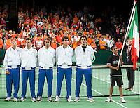 07-05-10, Tennis, Zoetermeer, Daviscup Nederland-Italie, Italian team