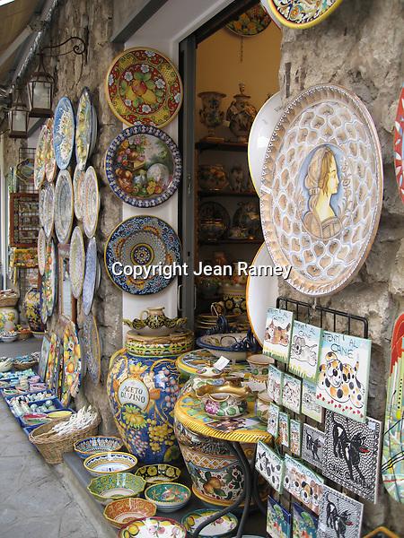 Beautiful ceramic treasures, Amalfi Coast