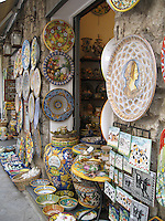 Beautiful ceramic treasures, Amalfi Coast
