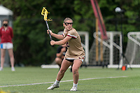 NEWTON, MA - MAY 16: Cassidy Weeks #12 of Boston College passes the ball during NCAA Division I Women's Lacrosse Tournament second round game between Temple University and Boston College at Newton Campus Lacrosse Field on May 16, 2021 in Newton, Massachusetts.
